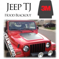 Jeep TJ Hood Blackout