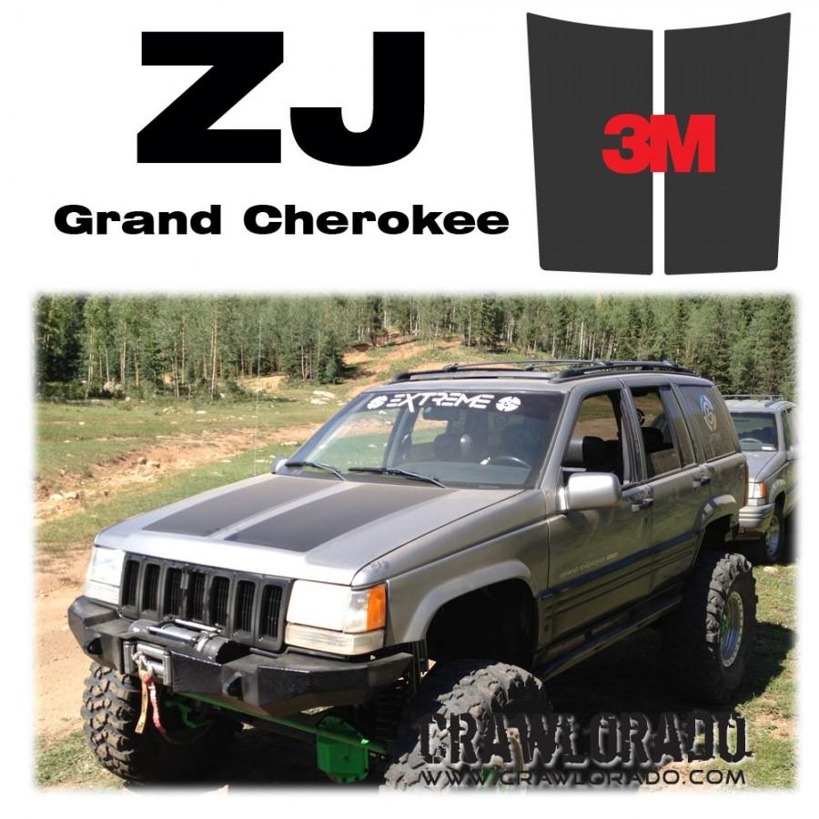 jeep grand cherokee zj hood blackout. Black Bedroom Furniture Sets. Home Design Ideas