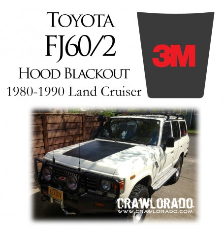 FJ60 & FJ62 Land Cruiser Hood Blackout